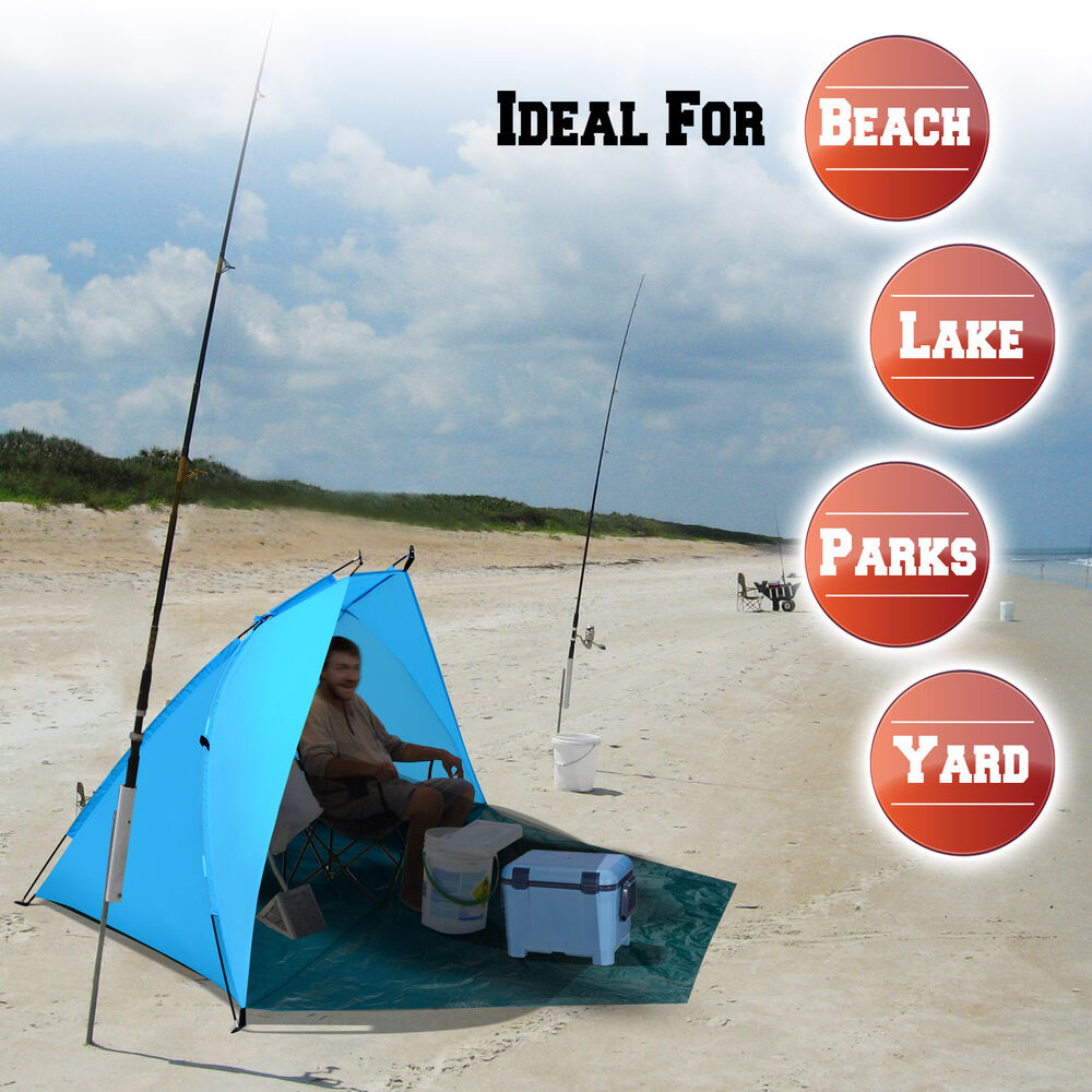 portable beach fishing tent shelter sun shade canopy camping outdoor sport w bag ebay. Black Bedroom Furniture Sets. Home Design Ideas