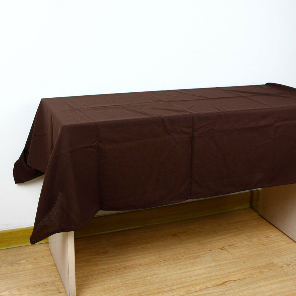 Solid color cotton linen tablecloth decorative elegant for Where can i buy table linens