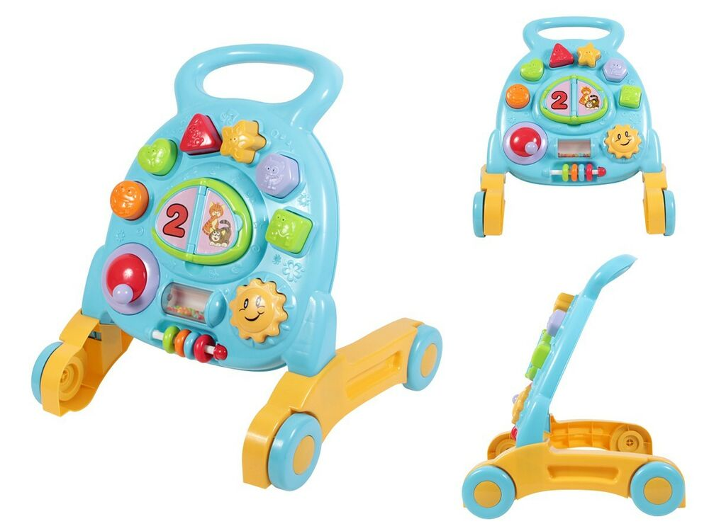 kleinkind laufhilfe motorik spielzeug baby lauflerner 2250 lauflernwagen gehfrei ebay. Black Bedroom Furniture Sets. Home Design Ideas