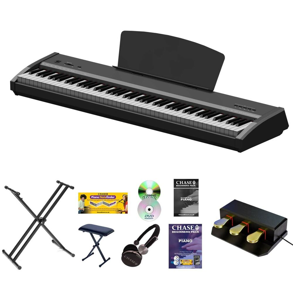chase p 50 digital electric portable piano hammer action weighted keyboard 5055438909420 ebay. Black Bedroom Furniture Sets. Home Design Ideas