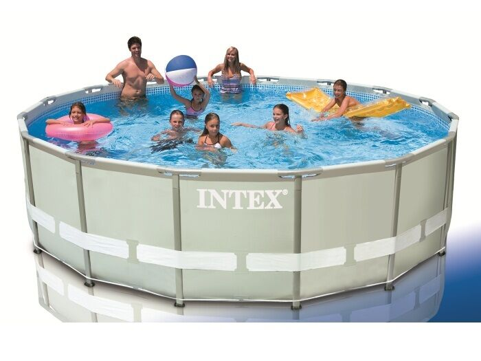 intex 28324 ultra frame 488 x 122 cm stahlrahmen swimming pool ohne zubeh r ebay. Black Bedroom Furniture Sets. Home Design Ideas
