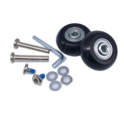 US Stock 2Set OD 40mm Luggage Suitcase Replacement Wheels Axles Repair Wrench