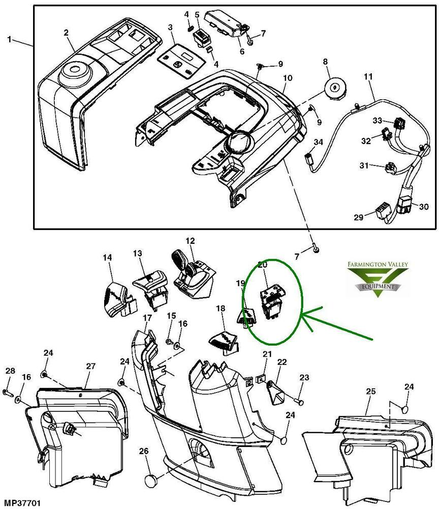 Wiring Diagram For John Deere X304 : John deere r pto mower