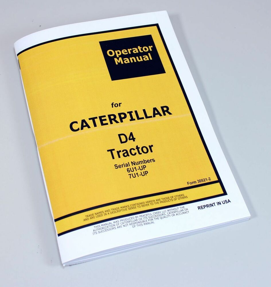 Caterpillar D4 7u Repair Manual
