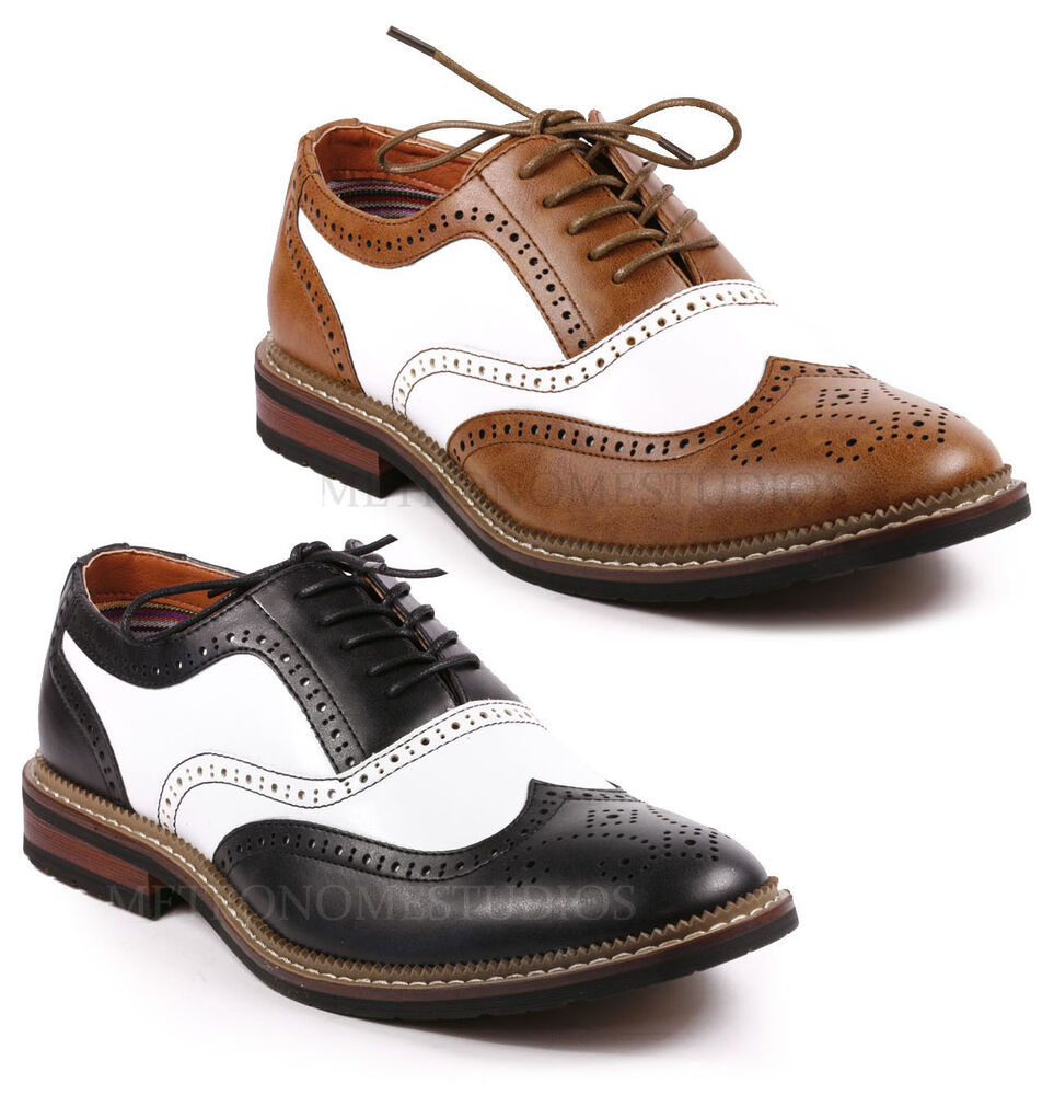 Perforated Oxford Shoes Mens