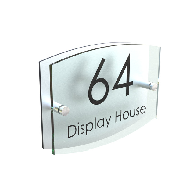 House Number Plaque Glass Effect Acrylic Sign Door Plate