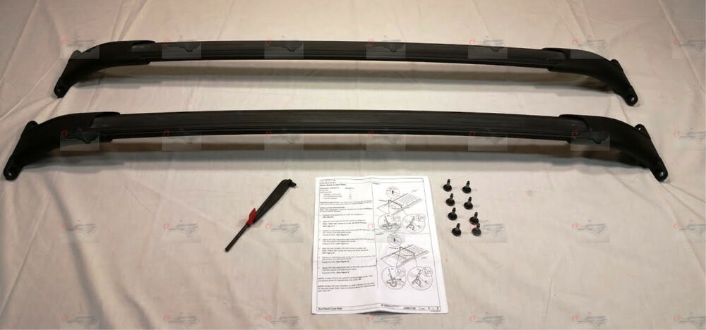 Suburban Roof Rack >> GM Black Roof Rail Cross Bars 2015-2017 Tahoe Suburban Yukon XL Escalade ESV OEM | eBay