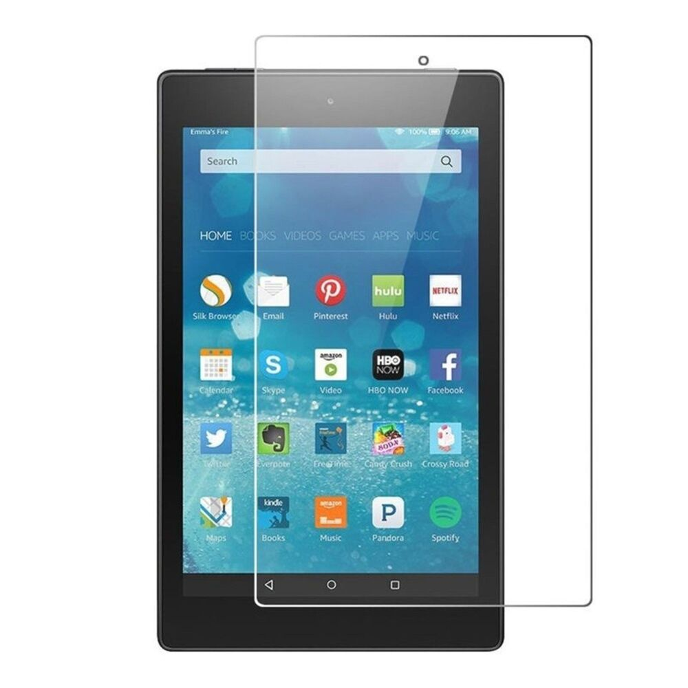 Details about For Amazon Fire HD 8 8 inch Tablet 2018 / 2017 Tempered Glass  Screen Protector