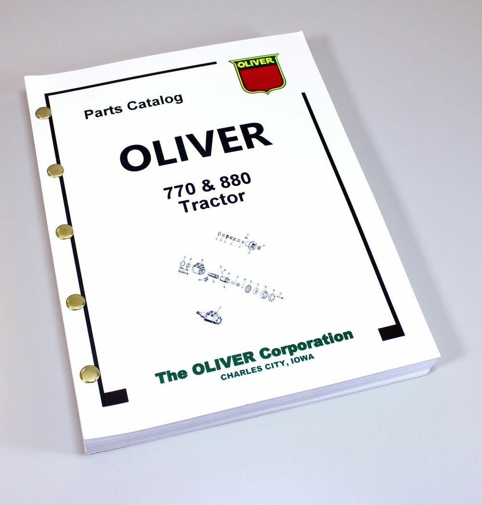 OLIVER 770 880 TRACTOR PARTS ASSEMBLY MANUAL CATALOG EXPLODED VIEWS NUMBERS  | eBay