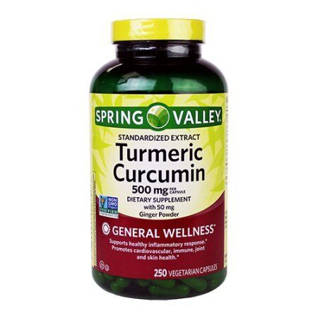 spring valley turmeric curcumin 500mg with 50 mg ginger