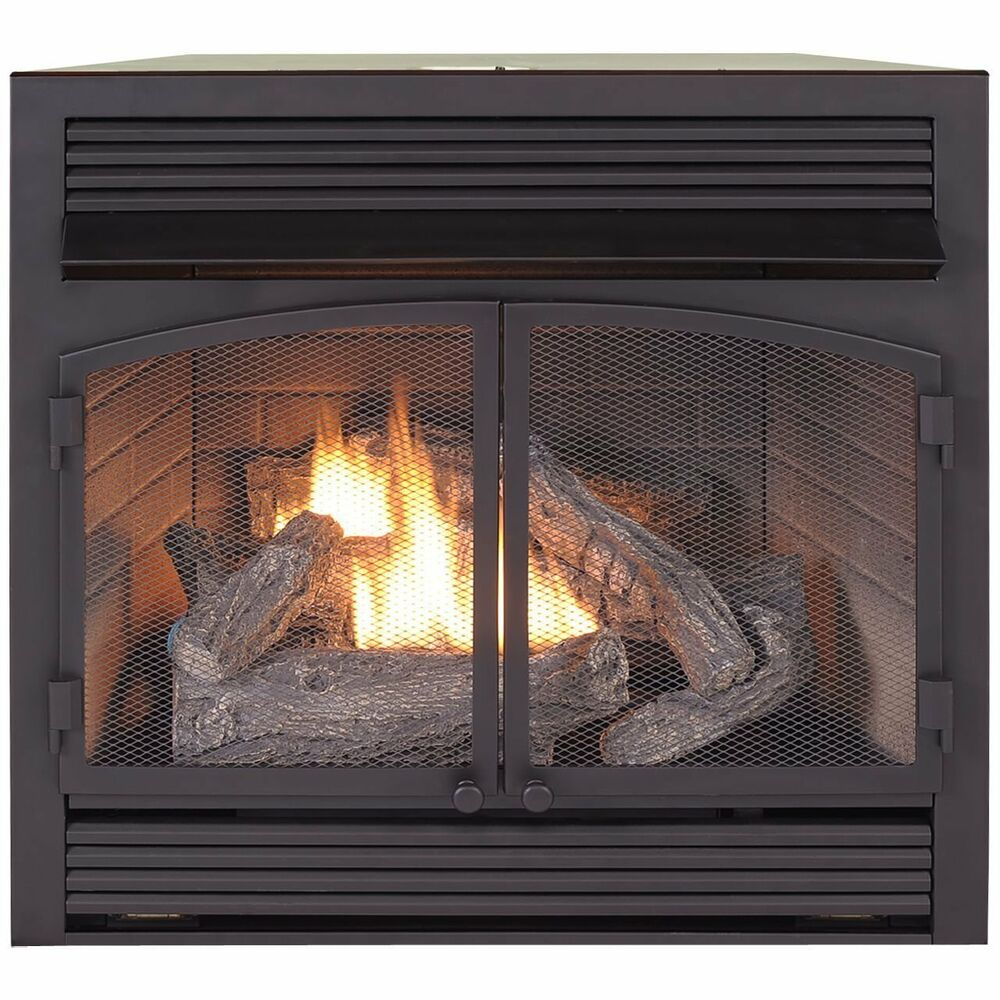 duluth forge dual fuel ventless natural gas propane fireplace