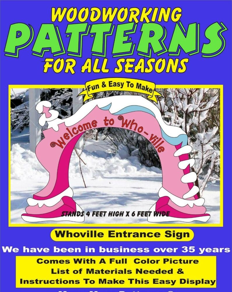 Whoville Entrance Sign Large Christmas Yard Art Pattern