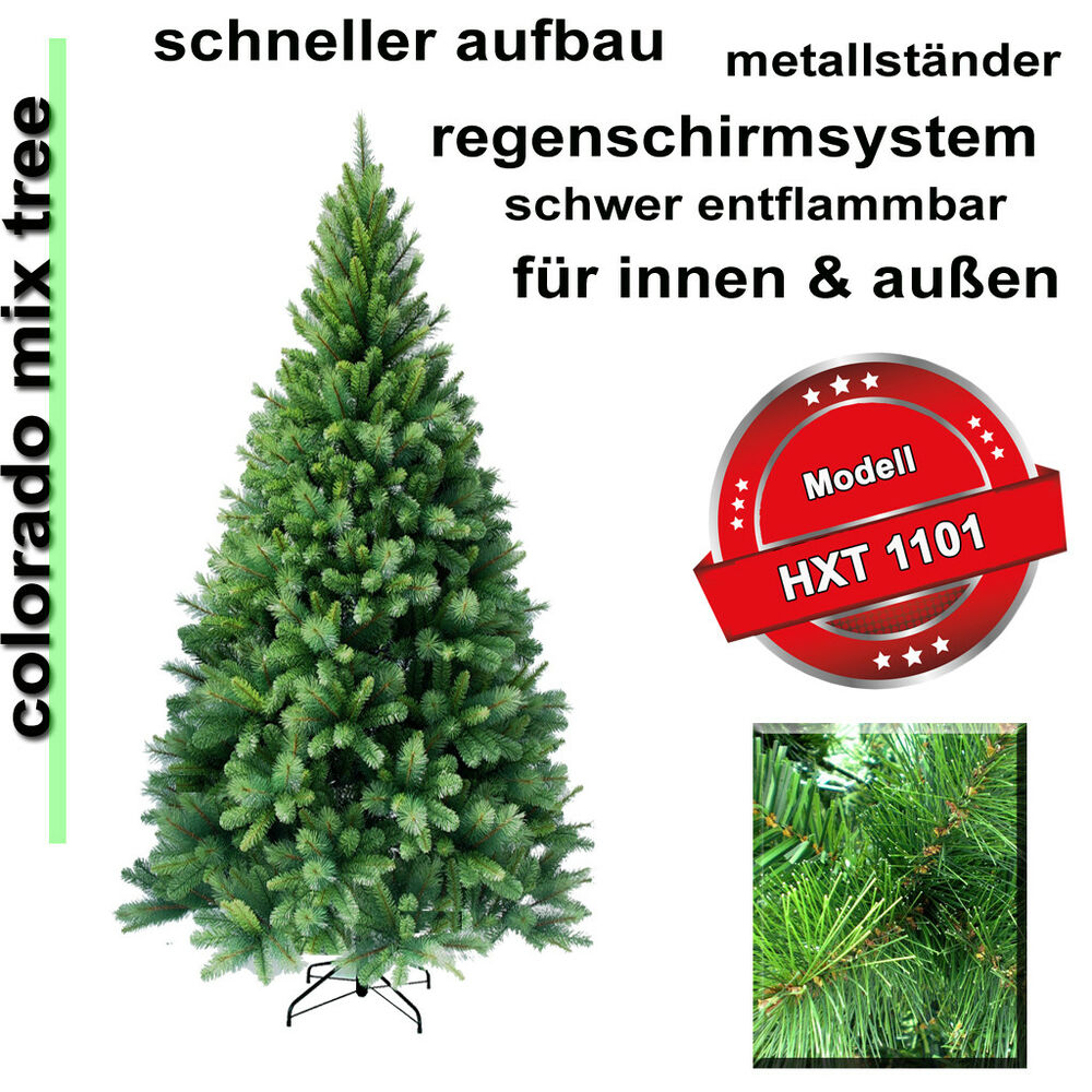 210 cm exkl k nstlicher weihnachtsbaum christbaum tannenbaum inkl metallst nder ebay. Black Bedroom Furniture Sets. Home Design Ideas