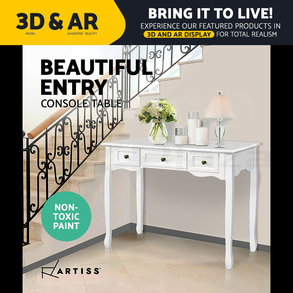 Hall Console Table Hallway Side Entry Timber Wooden French
