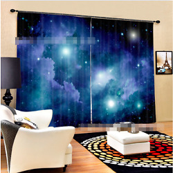 3D Starry Sky 6 Blockout Photo Curtain Printing Curtains Drapes Fabric Window CA