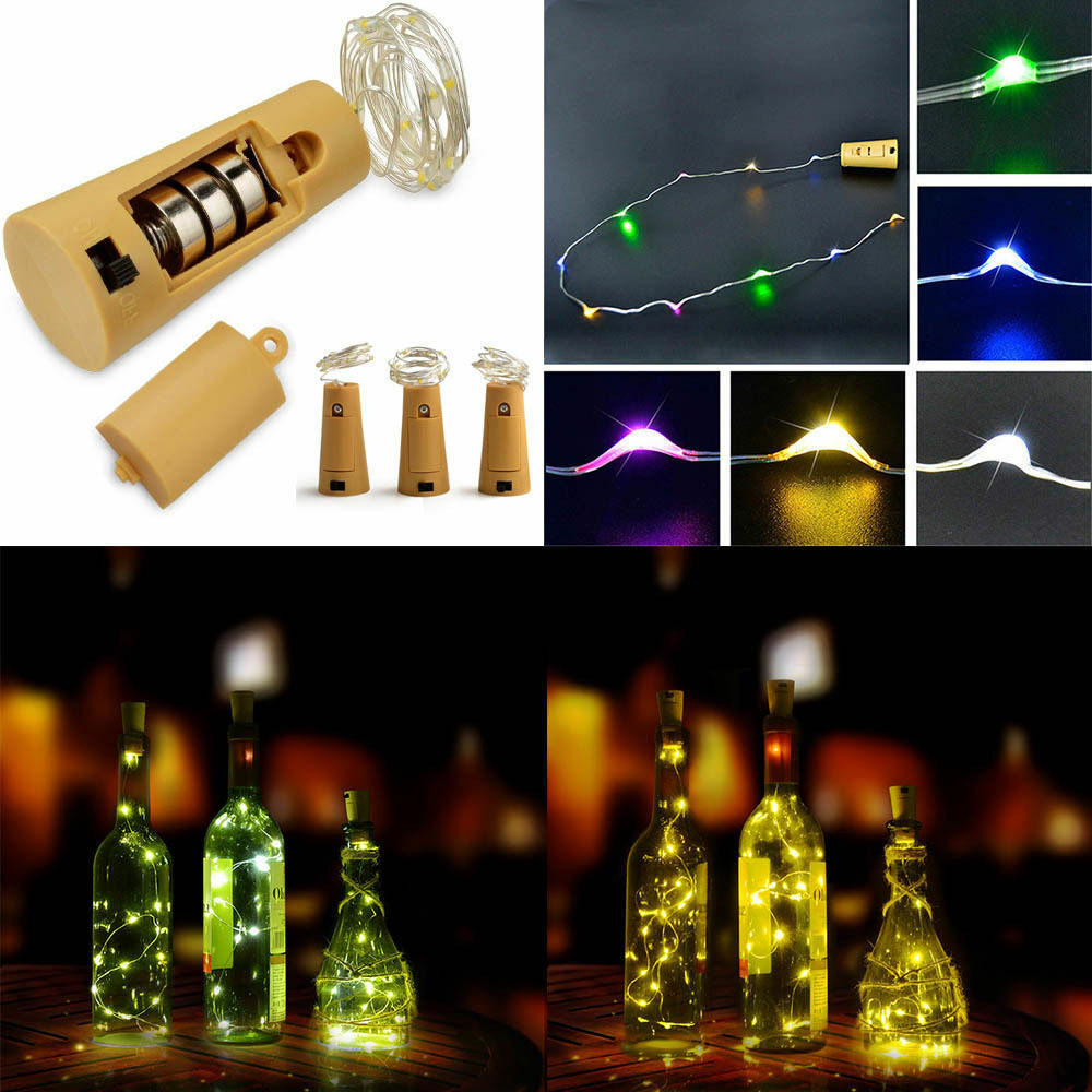 led kupferdraht sternenklare schnur licht party dekor flasche licht lichterkette ebay. Black Bedroom Furniture Sets. Home Design Ideas