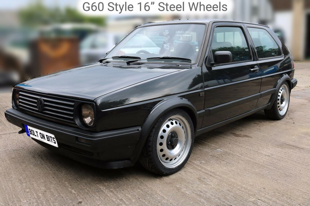 "16"" Steel Wheel Rims 195/45 R16 Tyres Golf Mk1 Mk2 Polo ..."