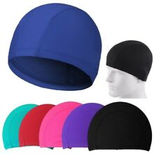Hat  Lycra Nylon Cap Swim Elasticity New Easy Fit Men Women Swimming Cap