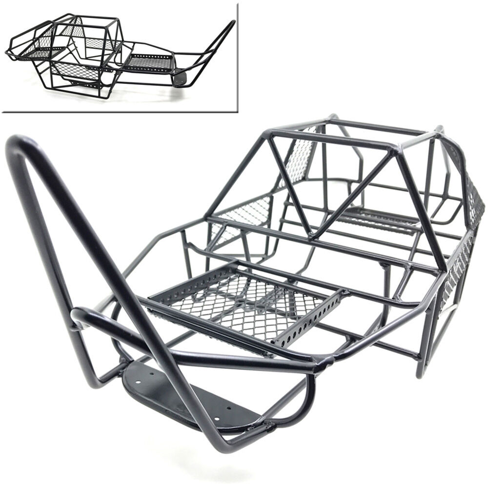 Steel Framed Cars : Steel roll chassis frame cage shell body for rc axial