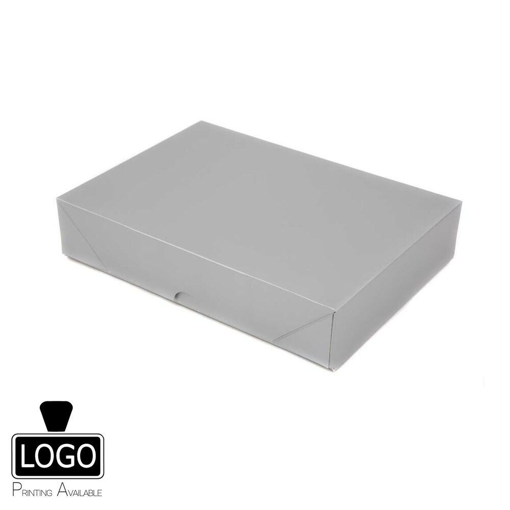 Silver gift boxes ebay pop up matt finish flat pack gift boxes a4 a5 a6 sizes negle Image collections