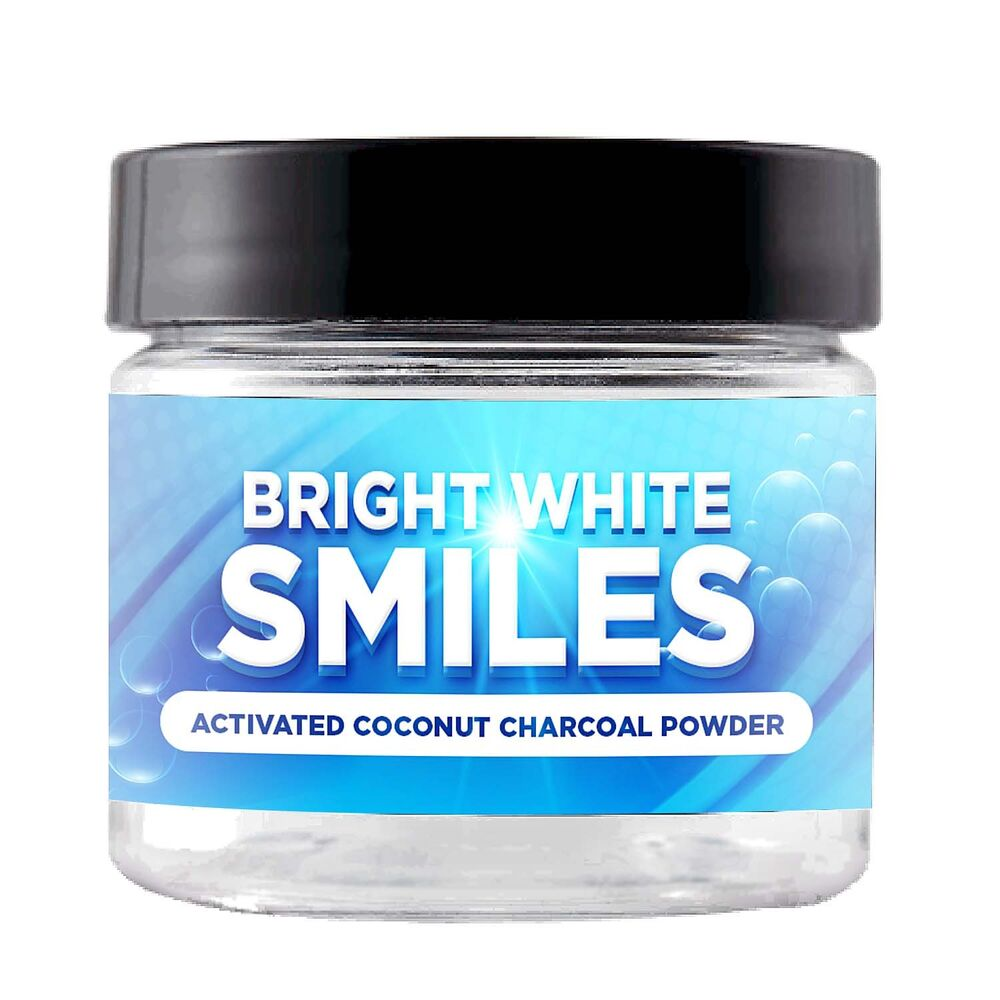 teeth tooth whitening natural activated charcoal powder by bright white smiles 663072584474 ebay. Black Bedroom Furniture Sets. Home Design Ideas