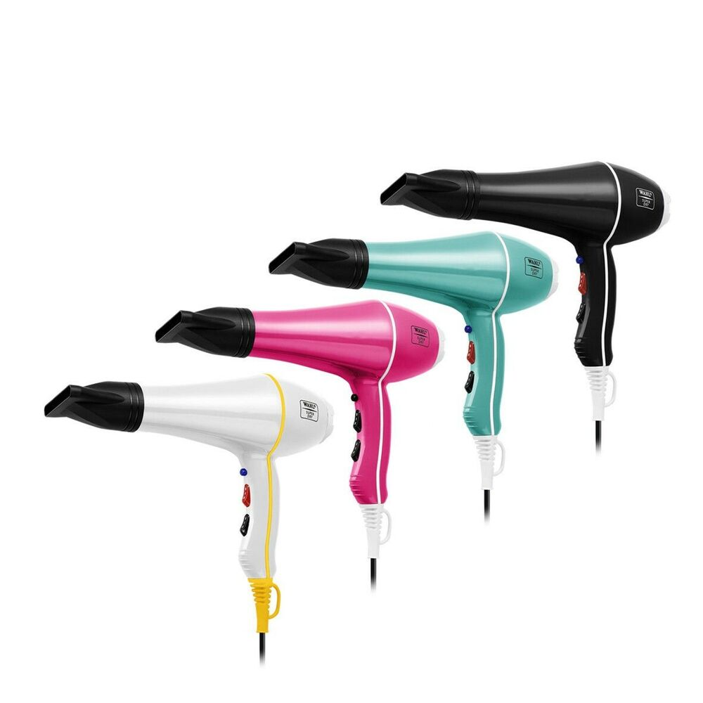Womens professional ionic conditioning colour protect hair dryer d6090 - Wahl Designer Dry 2000w Tourmaline Ionic Hair Dryer 2 Nozzles Choose Colour Ebay