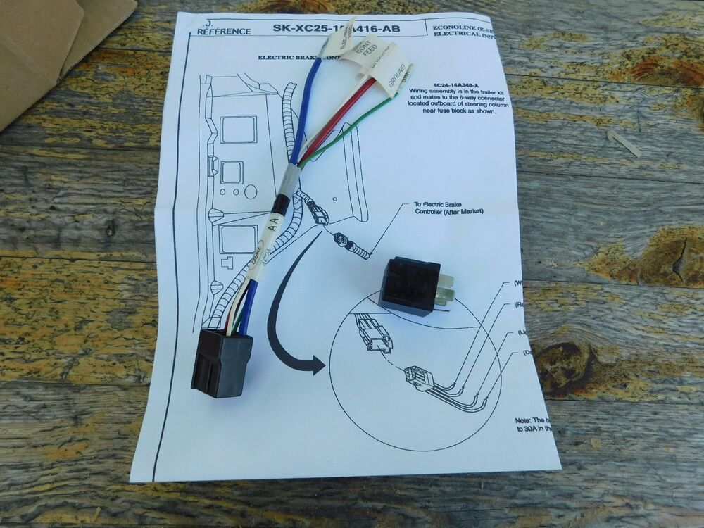 NEW 2004 2005 2006 FORD ECONOLINE TRAILER HITCH CONNECTOR KIT 4C2Z ...
