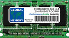 512MB DDR2 533MHz PC2-4200 214-PIN MICRODIMM MEMORY RAM FOR LAPTOPS/NOTEBOOKS