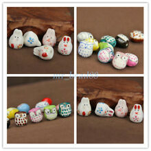 Rabbit / Owl Moulding Ceramic Porcelain Loose Spacer Beads DIY Jewelry Findings
