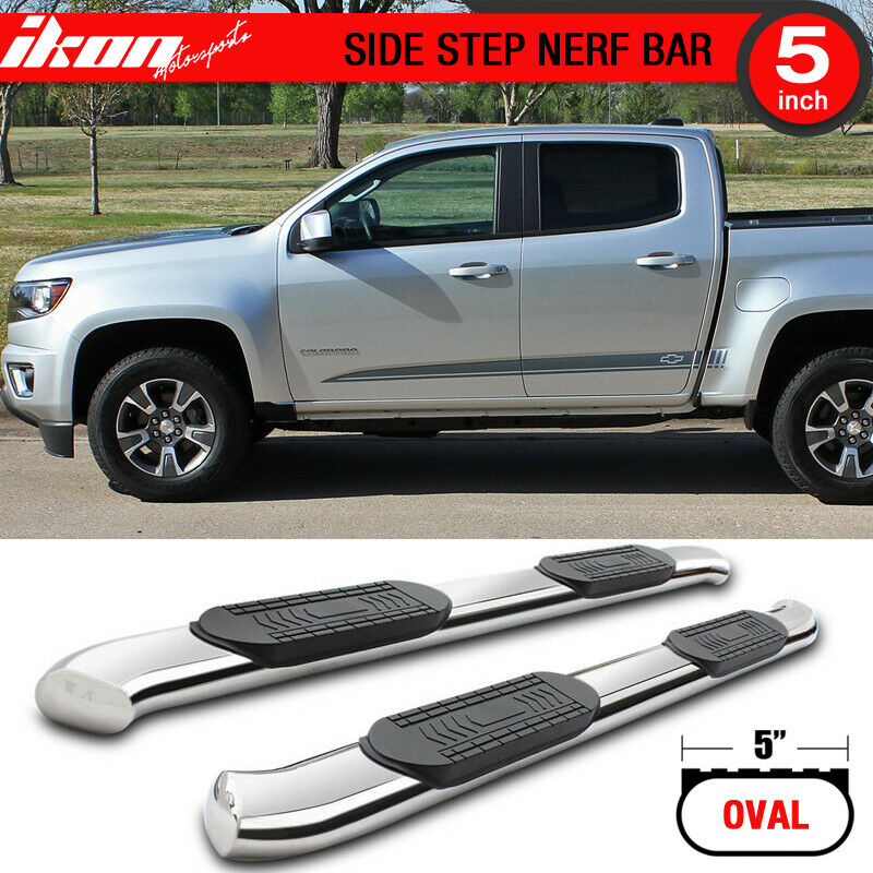 Details About Fits 15 17 Chevy Colorado Gmc Canyon Crew Cab 5in Ss Side Steps Running Boards