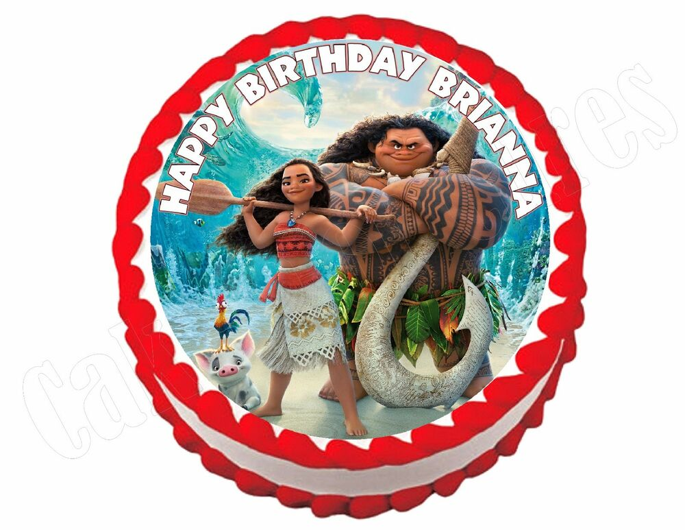 Moana **ROUND** edible cake image frosting sheet topper ...