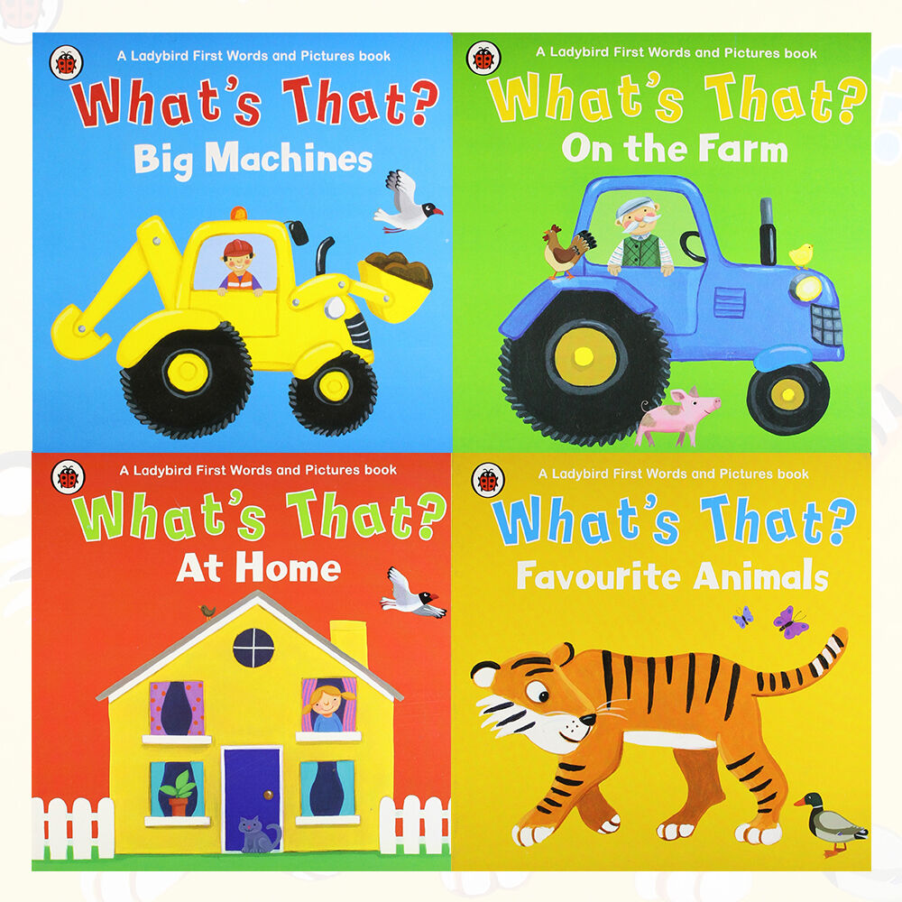 Whats That Ladybird First Words And Pictures Book 4 Books Farm Collection Set Pack 9789123566716 Ebay