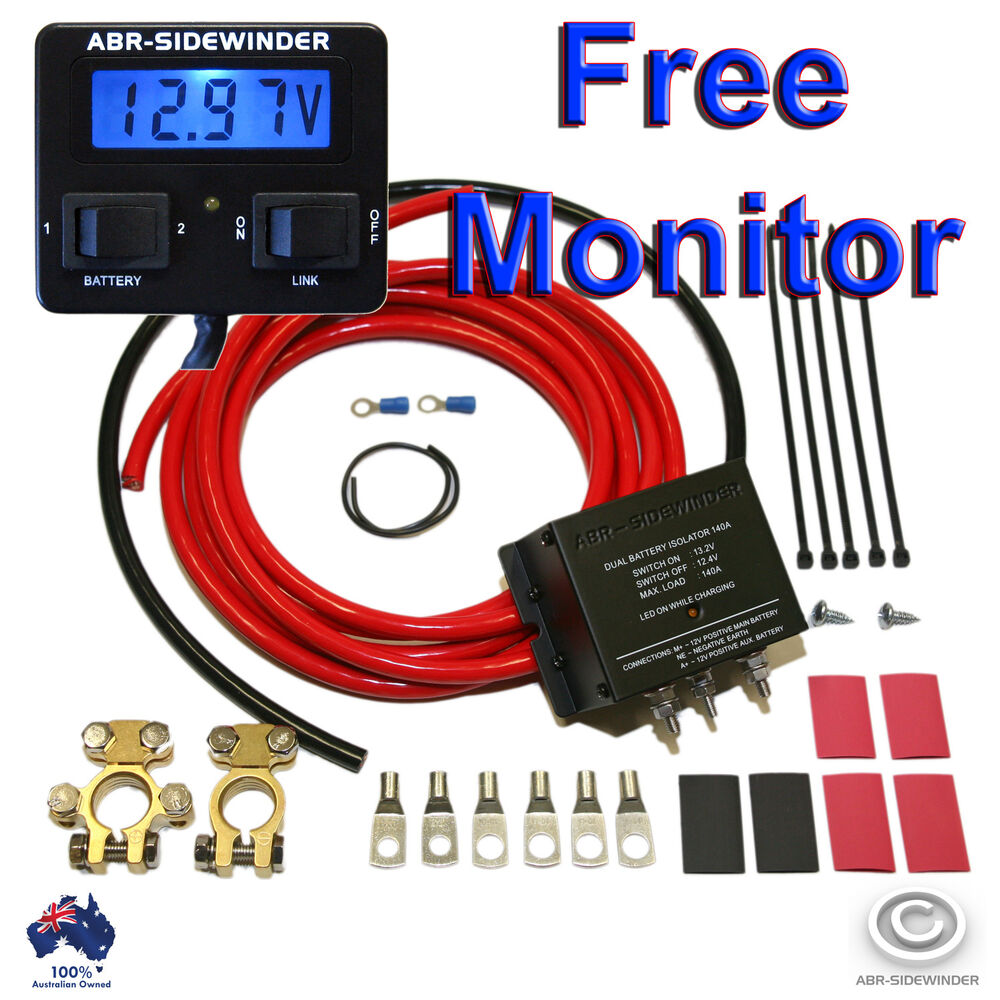 s l1000 dual battery system 140a full kit electronic isolator plus monitor abr sidewinder wiring diagram at gsmportal.co