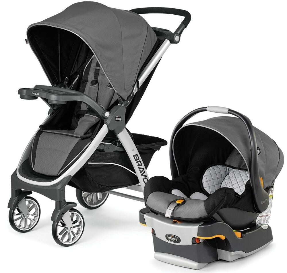 Chicco Bravo Trio 3 In 1 Baby Travel System Stroller W
