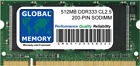512MB DDR 333MHz PC2700 200-PIN SODIMM MEMORY RAM FOR LAPTOPS/NOTEBOOKS