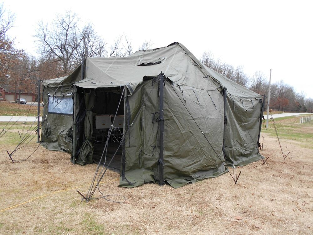 US MILITARY SURPLUS 18x18 MGPTS TENT HUNTING CAMPING+ FLOOR NO CONTENTS INCLUDED  sc 1 st  eBay & Military Surplus Tent | eBay