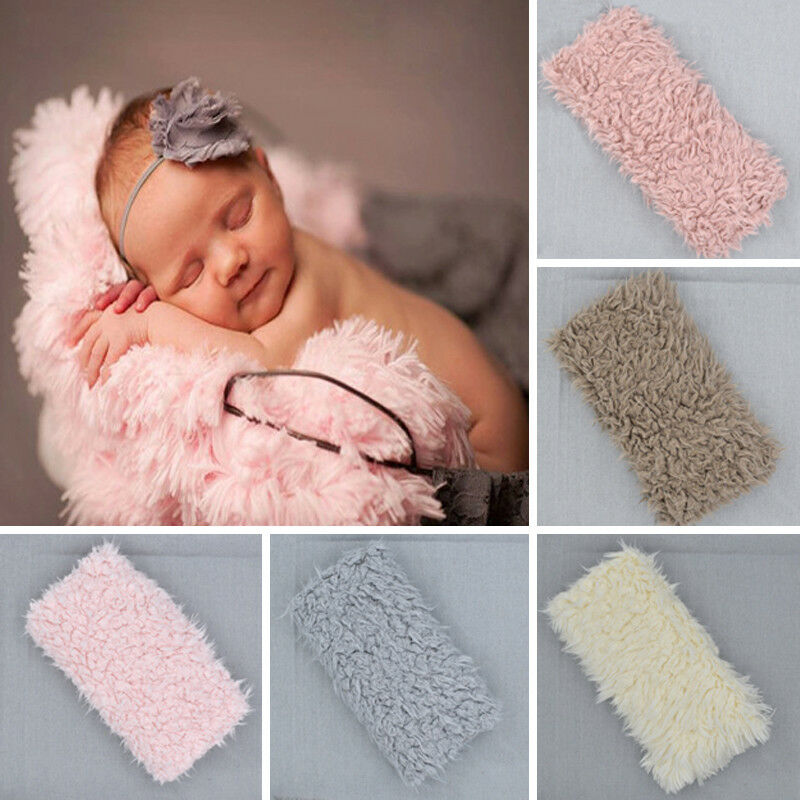 Soft Faux Fur Rug Mat Newborn Baby Photography Props Kids
