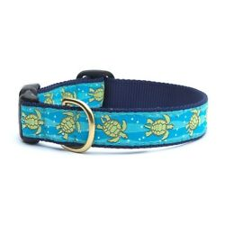 Up Country - Dog Puppy Design Collar -Made In USA - Sea Turtle - XS S M L XL XXL
