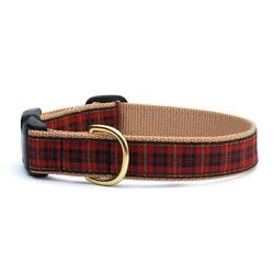 Up Country - Dog Puppy Design Collar - Made In USA - Red Plaid - XS S M L XL XXL