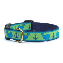 Up Country - Dog Puppy Design Collar - Made In USA - Whale - XS S M L XL XXL