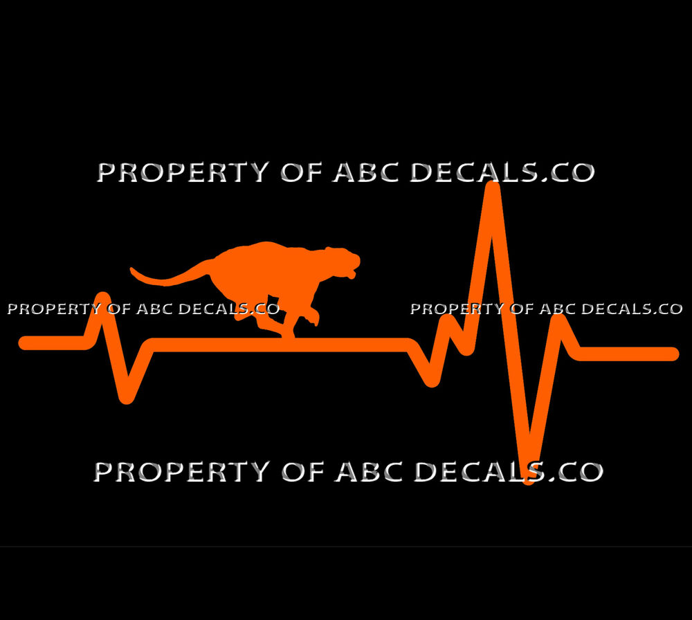 Details about vrs heart beat line animal mountain lion cougar panther running car vinyl decal