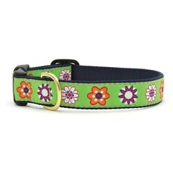 Up Country - Dog Puppy Design Collar - Made In USA - Bloom - XS S M L XL XXL
