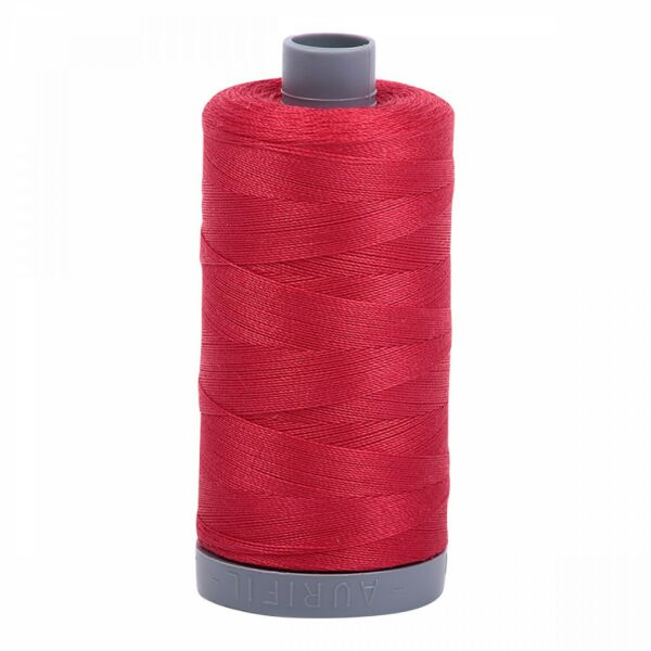 #2250~AURIFIL HAND QUILT & SEW~100% COTTON THREAD~RED~28 WT~MAKO~750m