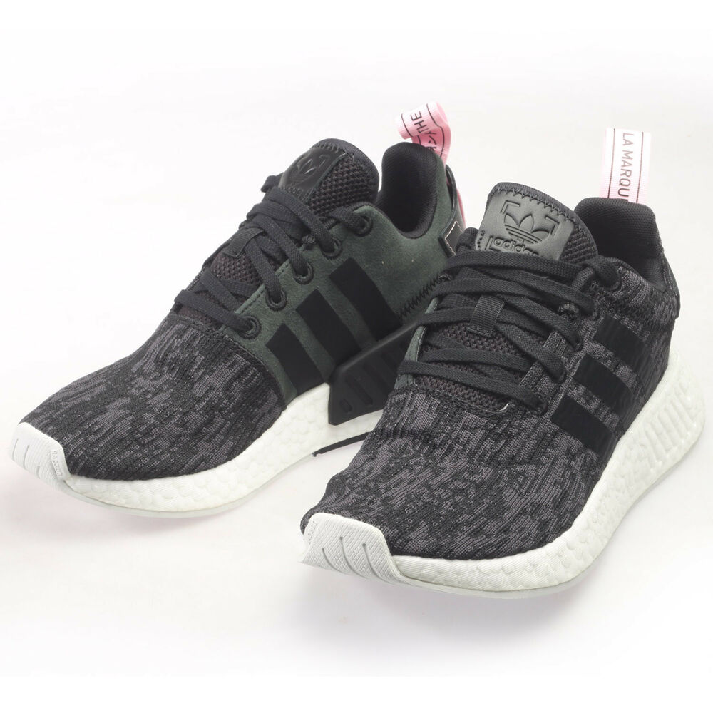 dd6c9598c Details about Adidas Originals NMD R2 Womens BY9314 Black Wonder Pink  Running Shoes Size 8.5