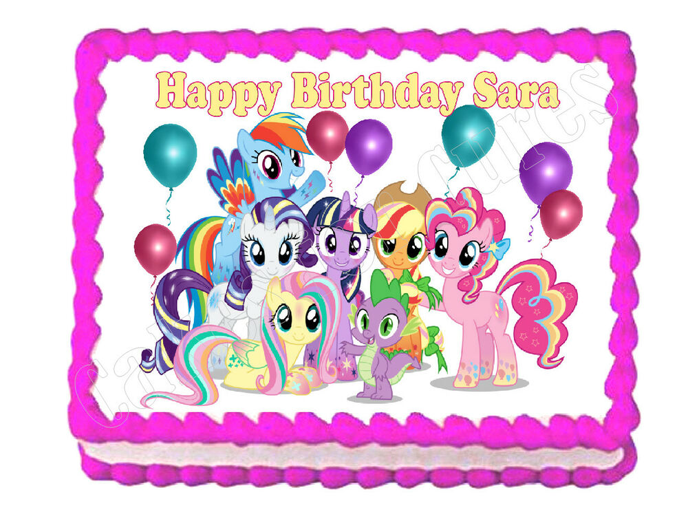 My Little Pony party edible cake image cake topper ...