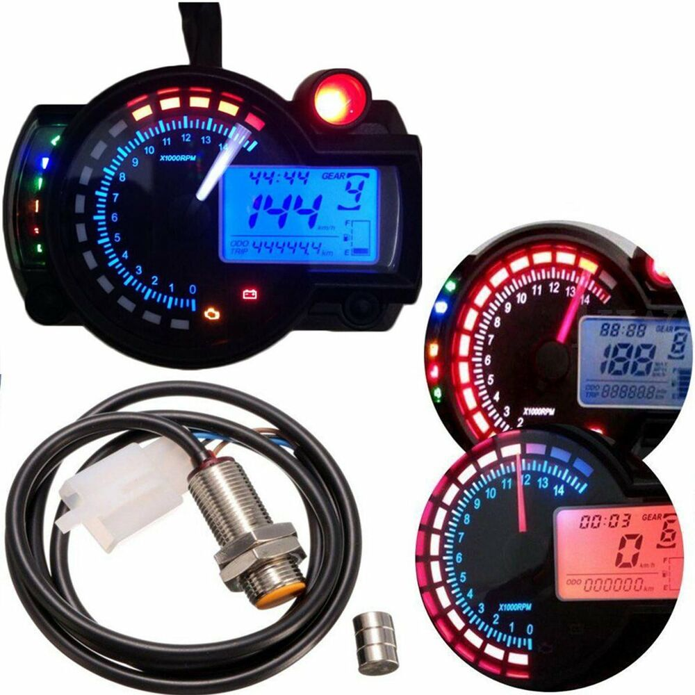 15000rpm km h motorcycle lcd digital speedometer. Black Bedroom Furniture Sets. Home Design Ideas