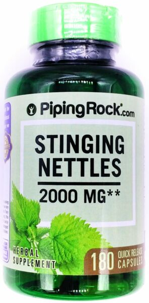 180 Capsules Stinging Nettles 500mg Herbal Eczema Prostate Gout Anemia Support