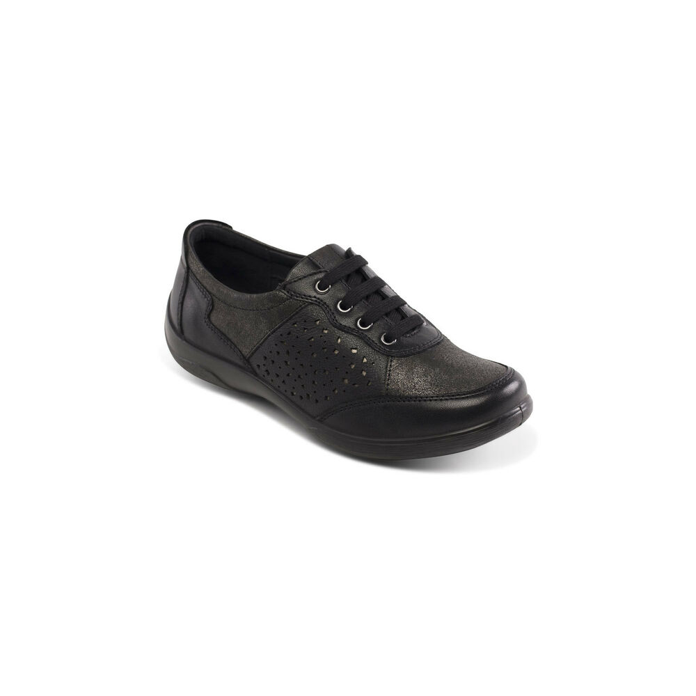 ae345fc1a084 Details about Padders Harp Leather EE EEE Fitting Lace up Comfort Shoe For  Winter Sizes 3-9