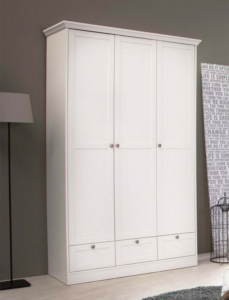 kleiderschrank dreht renschrank 120x200 cm wei schrank landstr m 18 4251177638053 ebay. Black Bedroom Furniture Sets. Home Design Ideas