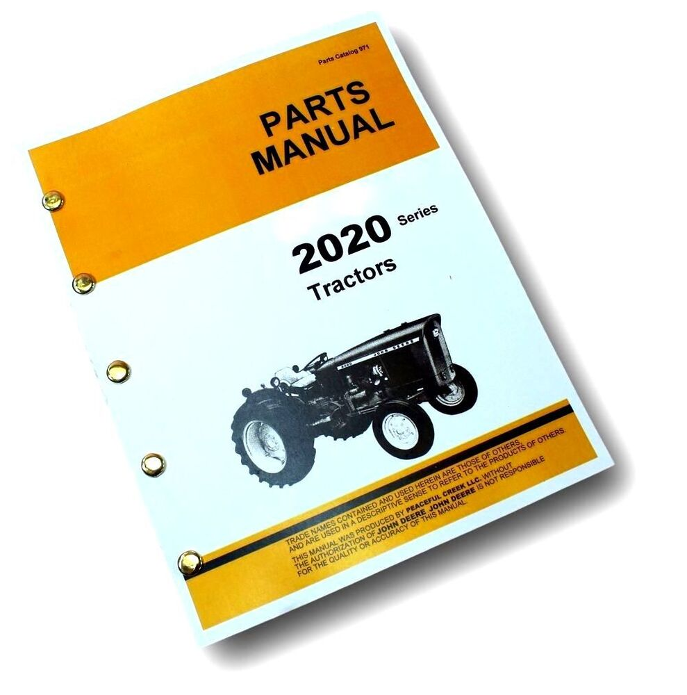 Parts Manual For John Deere 2020 Tractor Catalog Exploded Views Jeep Schematic Assembly Ebay